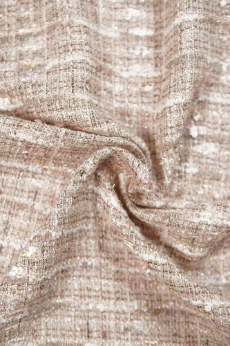 "Boucle fabric ""chanel"" light beige"