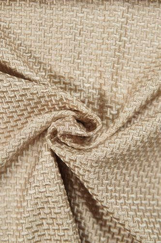 Embroidered fabric beige
