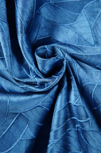 Jacquard fabric leaf