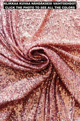 Sequin fabric stretching